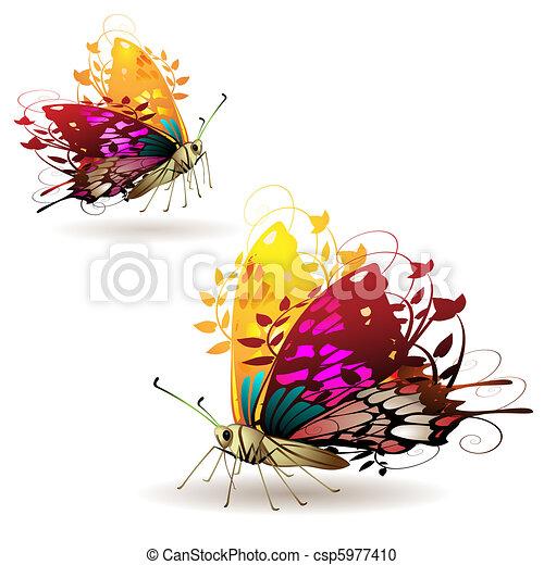 Stylized butterflies - csp5977410
