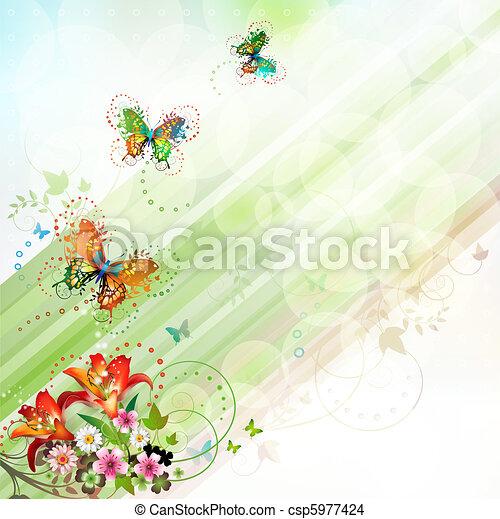Springtime background - csp5977424