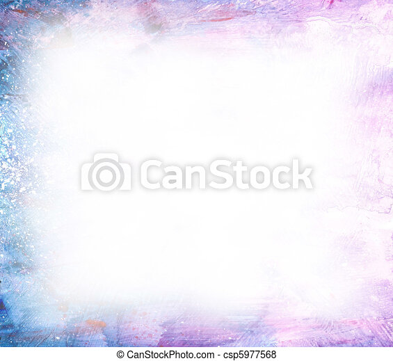 Beautiful watercolor background in soft white, purple and blue - csp5977568