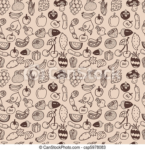 seamless vegetable pattern - csp5978083