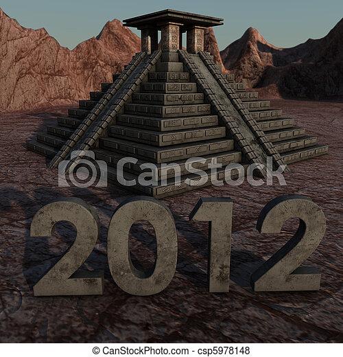 2012 Mayan Pyramid - csp5978148