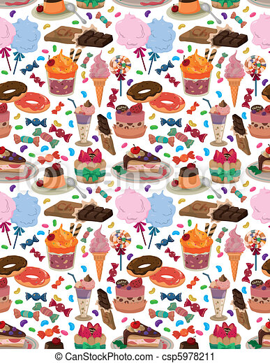 seamless candy pattern  - csp5978211