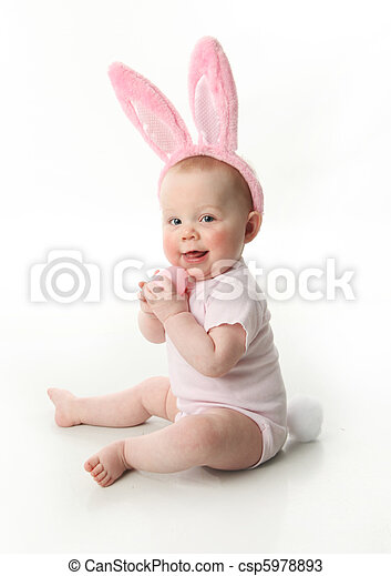 Easter bunny baby - csp5978893
