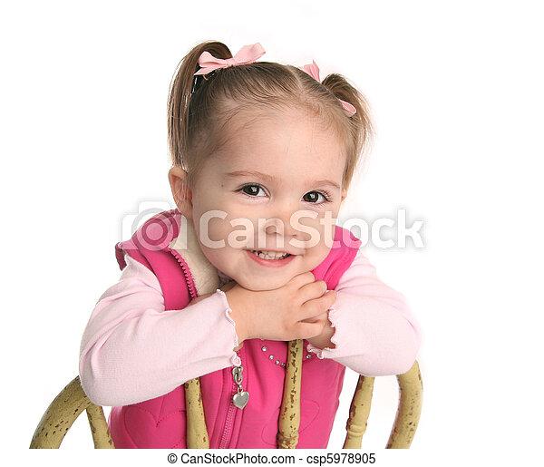 Cute little toddler girl  - csp5978905