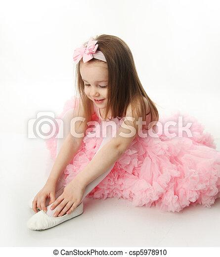 Pretty preschool ballerina - csp5978910