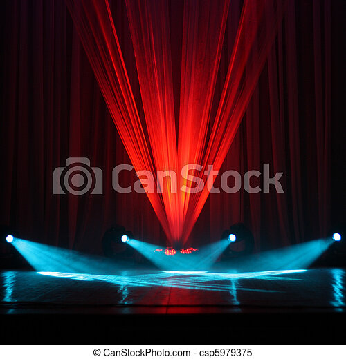 Illumination of a stage  - csp5979375