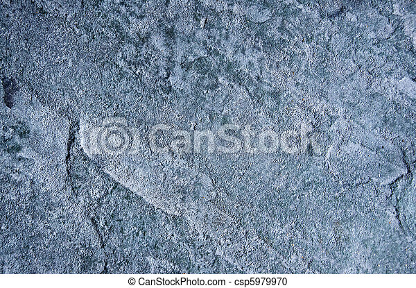 Weather worn slate grey stone - csp5979970