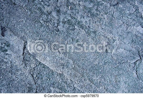 Weather worn slate grey stone - csp5979970