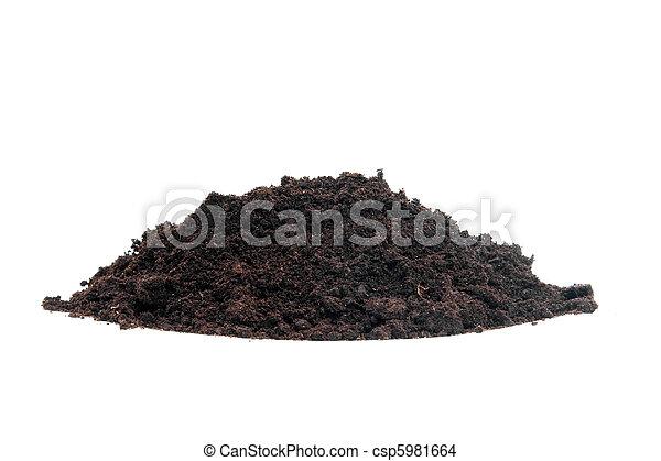 Stock photo of pile of black garden soil pile of black for Black garden soil