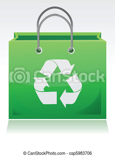green recycle bag - csp5983706