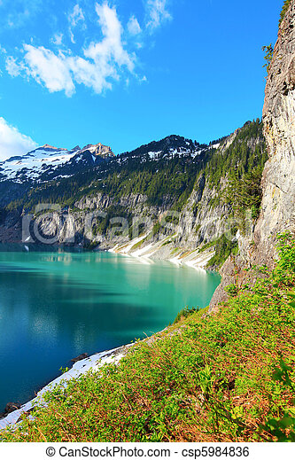 Blanca Lake, Washington State - csp5984836