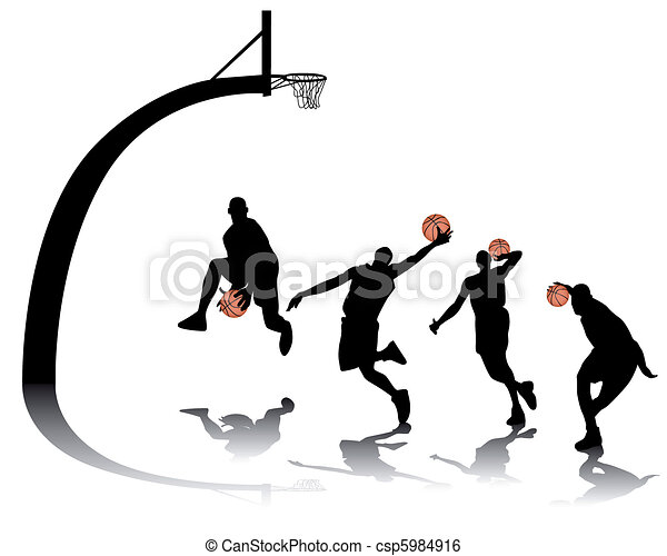 basketball silhouettes - csp5984916
