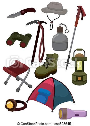 cartoon climb equipment icon  - csp5986451