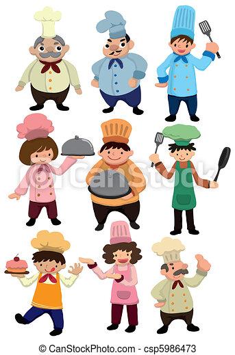 cartoon Chef icon  - csp5986473