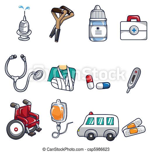 cartoon doctor icon - csp5986623