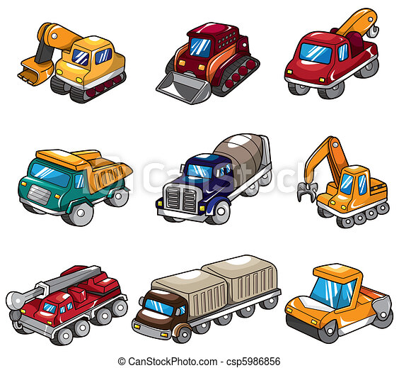 cartoon truck icon - csp5986856