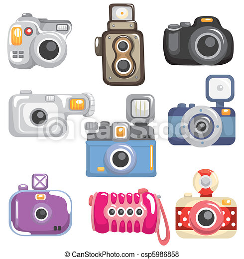 cartoon camera icon  - csp5986858