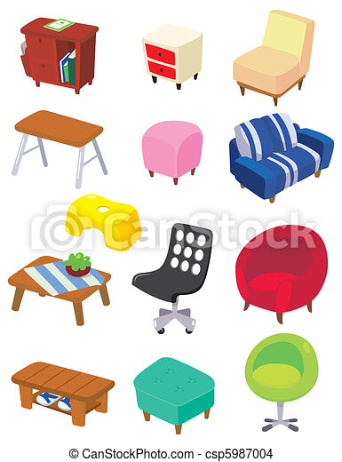 cartoon Furniture icon  - csp5987004