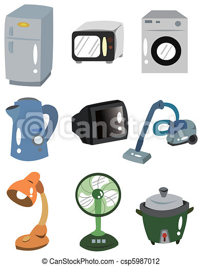 cartoon Home Appliances icon - csp5987012
