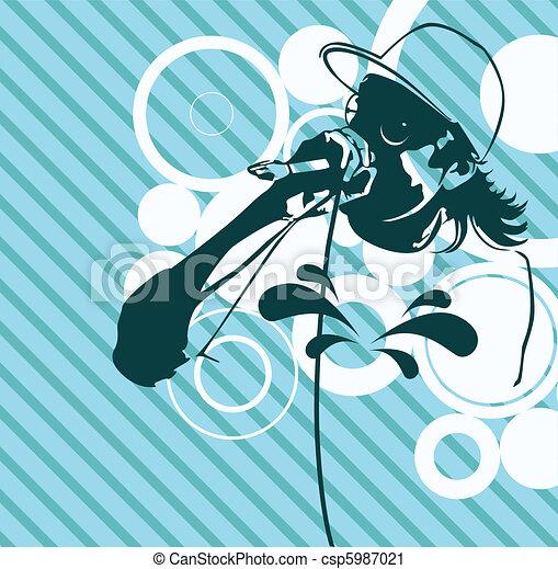 Rap Music Illustration - csp5987021