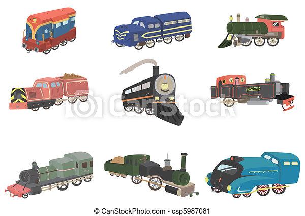cartoon train icon  - csp5987081