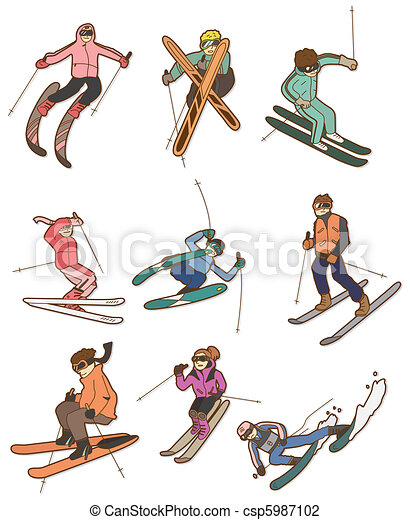cartoon Extreme sport icon  - csp5987102