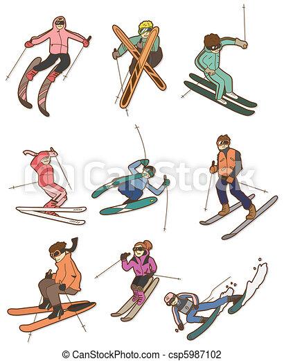 cartoon Extreme sport icon  - csp5987102