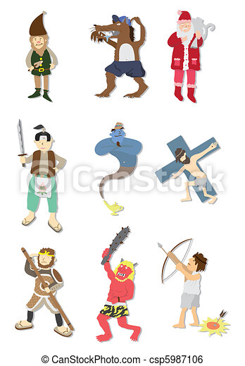 cartoon story people icon  - csp5987106