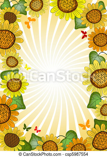 Vivid floral summer frame - csp5987554