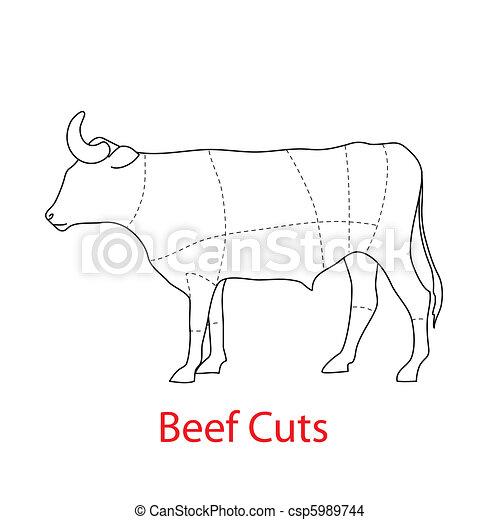 beef-cuts - csp5989744