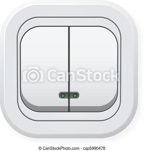 Lichtschalter clipart  Vektor von doppelgänger, schalter, licht - Double, licht, switch ...