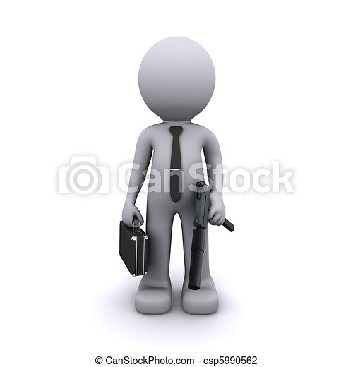 secret agent/gangster/spy concept - csp5990562