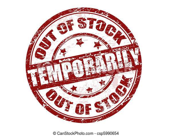 Out of stock temporarily stamp - csp5990654