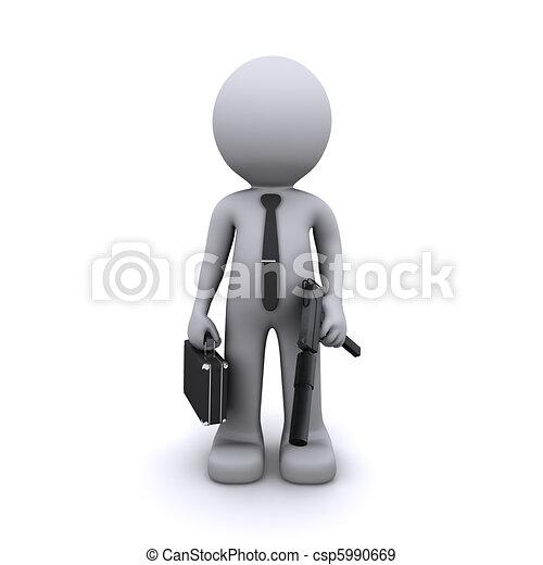 secret agent/gangster/spy concept - csp5990669