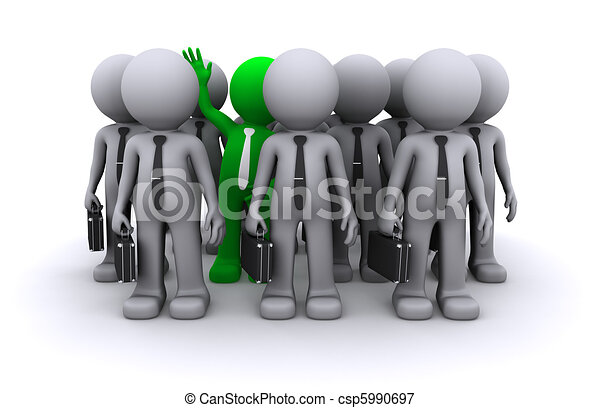 Unique character of crowd of people  - csp5990697