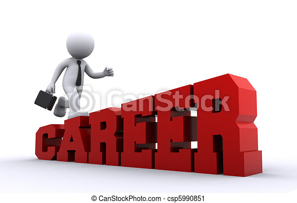 Climbing on the job ladder. - csp5990851