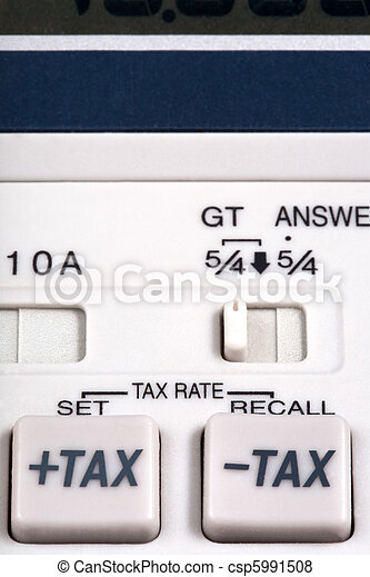 tax rate  buttons  - csp5991508