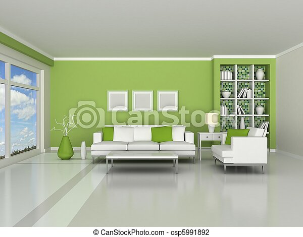 interior of the modern room - csp5991892