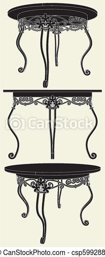 Antique Table - csp5992881