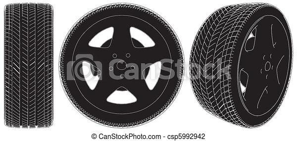 Car Wheel Tire - csp5992942