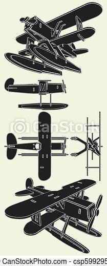 Handmade Model Of Hydro Airplane - csp5992951