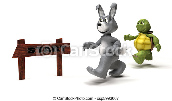 Tortoise and Hare race metaphor - csp5993007