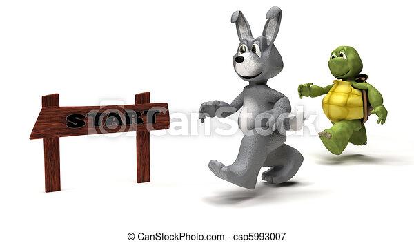 Tortoise and Hare race metaphor - csp5993007