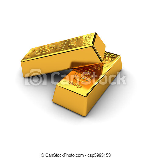 Two gold bars - csp5993153