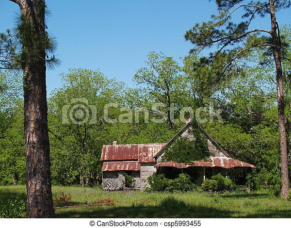 家, 歴史的, 捨てられた, 外気に当って変化した - csp5993455