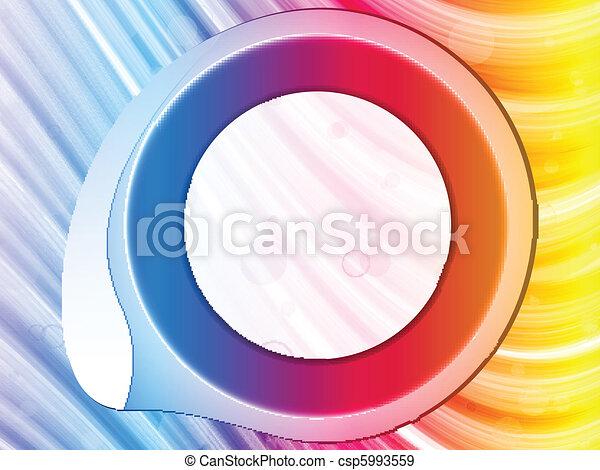 Rainbow Circle Border with Sparkles and Swirls. - csp5993559