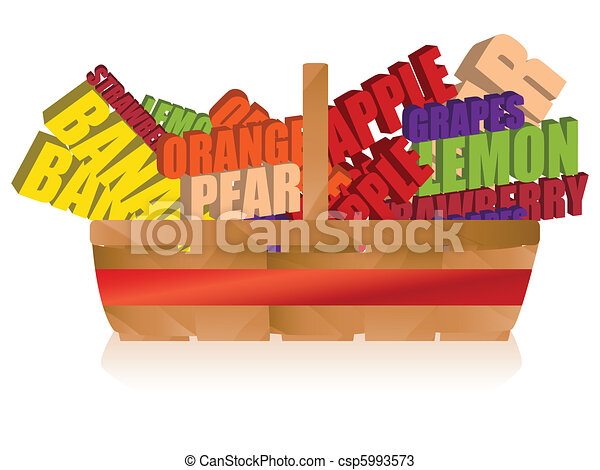 Fruit Basket with Typography - csp5993573