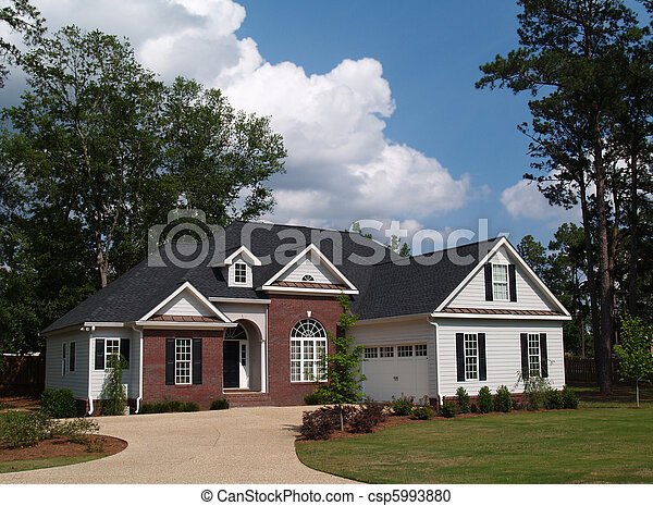 Two Story Residential Home  - csp5993880