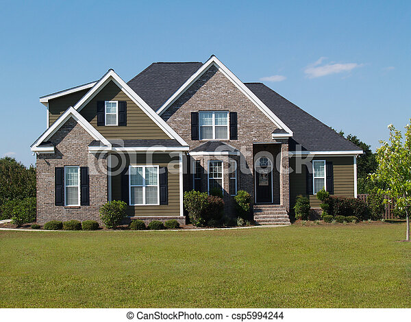 Two story brick and vinyl home. - csp5994244