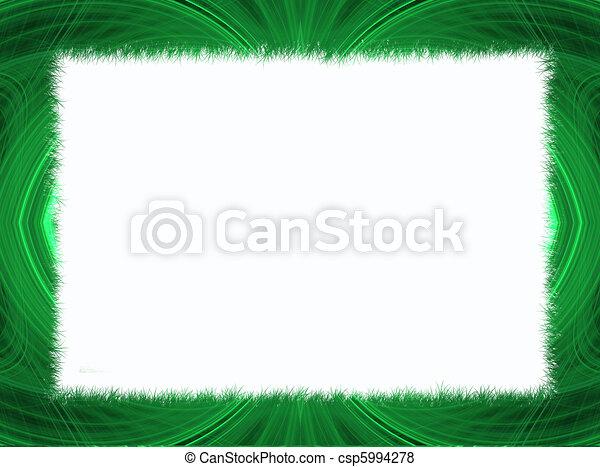 Green Fractal Border White Copy Spa - csp5994278